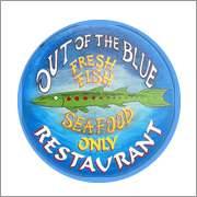 Out of the Blue Seafood Restaurant walking distance from luxury holiday homes in Dingle